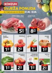 KONZUM -SVJEŽA PONUDA - Akcija sniženja do 03.06.2020.