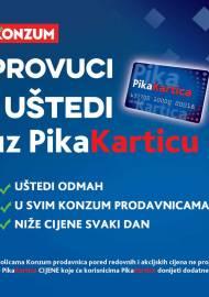 KONZUM - PROVUCI I UŠTEDI UZ PIKA KARTICU! - Akcija sniženja do 31.10.2020.