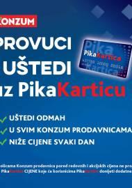 KONZUM - PROVUCI I UŠTEDI UZ PIKA KARTICU! - Akcija sniženja do 31.12.2020.
