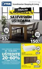 Jysk ponuda - JYSK Katalog - Super akcija od 08.08. do 21.08.2019.