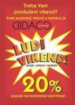 DIDACO Vikend akcija do 30.08.2015!