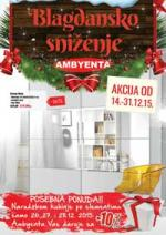Ambyenta vam daruje blagdansko sniženje! Akcija do 31.12.2015.!