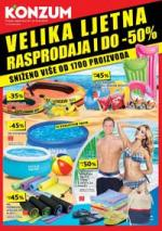 Katalog - Konzum VELIKA LJETNJA RASPRODAJA - akcija do 30.09.2015.