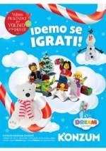 Katalog - Konzum tematski katalog IDEMO SE IGRATI - akcija do 13.01.2016.