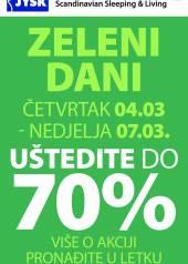 Jysk ponuda - JYSK Katalog - ZELENI DANI UŠTEDITE DO 70% - Akcija sniženja do 07.03.2021