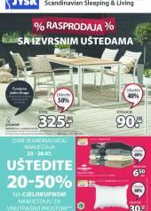 Jysk ponuda - JYSK Katalog - RASPRODAJA - Akcija sniženja do 04.08.2021