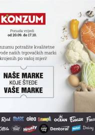 KONZUM KATALOG - NAŠE MARKE KOJE ŠTEDE VAŠE MARKE - AKCIJA SNIŽENJA DO 17.10.2021