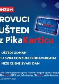KONZUM - PIKA KATALOG!  PROVUCITE I UŠTEDITE UZ PIKA KARTICU! Akcija sniženja do 30.09.2021. (2)